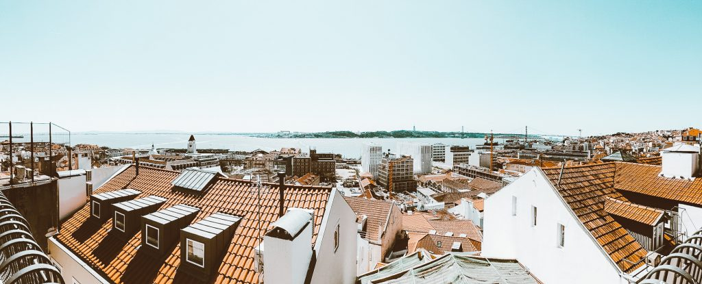 rooftop panorama lisbon portugal
