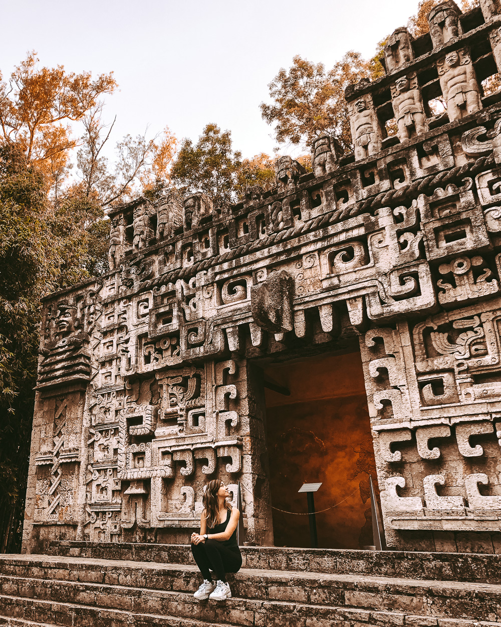 Mexico city aztec ruins